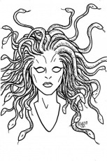 art of tessa crawford medusa coloring pages printable coloring