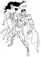 Wonder Woman And Superman Colouring Pages Page 2 155279