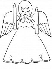 christmas angels coloring pages