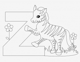 Free Zebra Coloring Pages - Printable Zebra Coloring Pages for