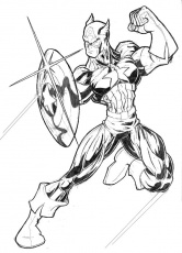 The Avenger Captain America Coloring Page - Captain America