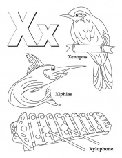My A to Z Coloring Book Letter X coloring page | Download Free My