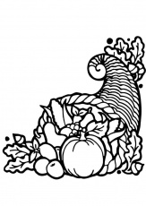 Coloring page Thanksgiving cornucopia - img 12825.