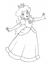 coloring pages of princess peach and daisy