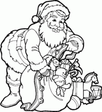 Santa Coloring Pages For Kids | Coloring Pages