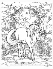 horse coloring pages hard