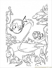 Coloring Pages Dory Swim Too Fast (Cartoons > Finding Nemo) - free