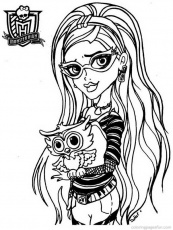 Monster High Coloring Pages 21 | Free Printable Coloring Pages