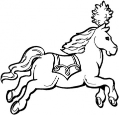 Circus Horse Coloring Page for Kids - Free Printable Picture