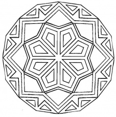 Geometric Coloring Pages and Book | UniqueColoringPages