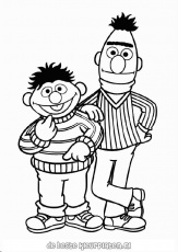 Ernie & Bert coloring pages! | dessin | Pinterest | Coloring Pages ...